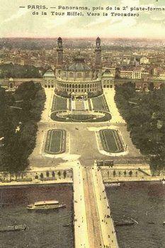 Les jardins du Trocadéro en 1900 et 1937