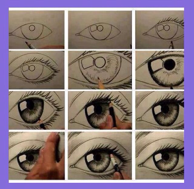 How to draw a eye