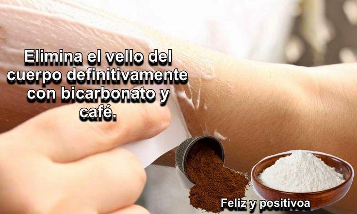 Elimina el vello del cuerpo con bicarbonato y café