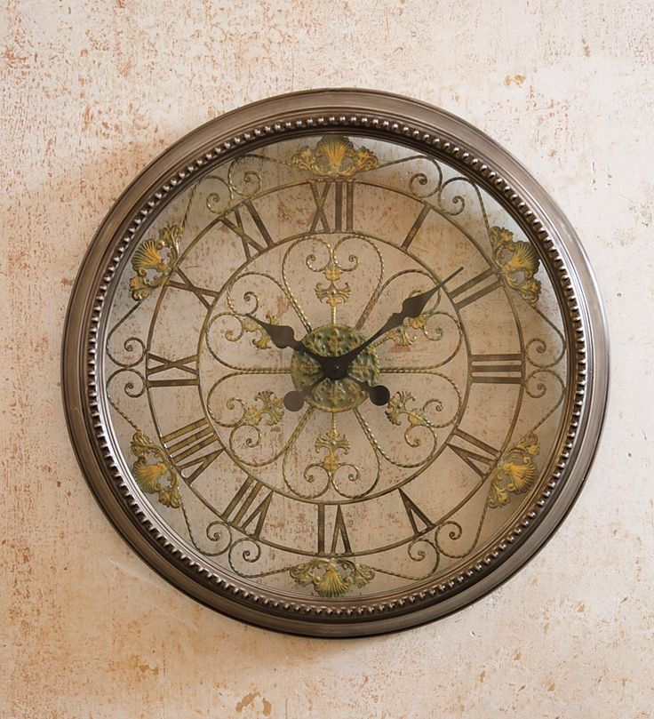 2nd Floor / Across From Sink In The Courtney Soaking Tub Bathroom / Victorian Metal Wall Clock