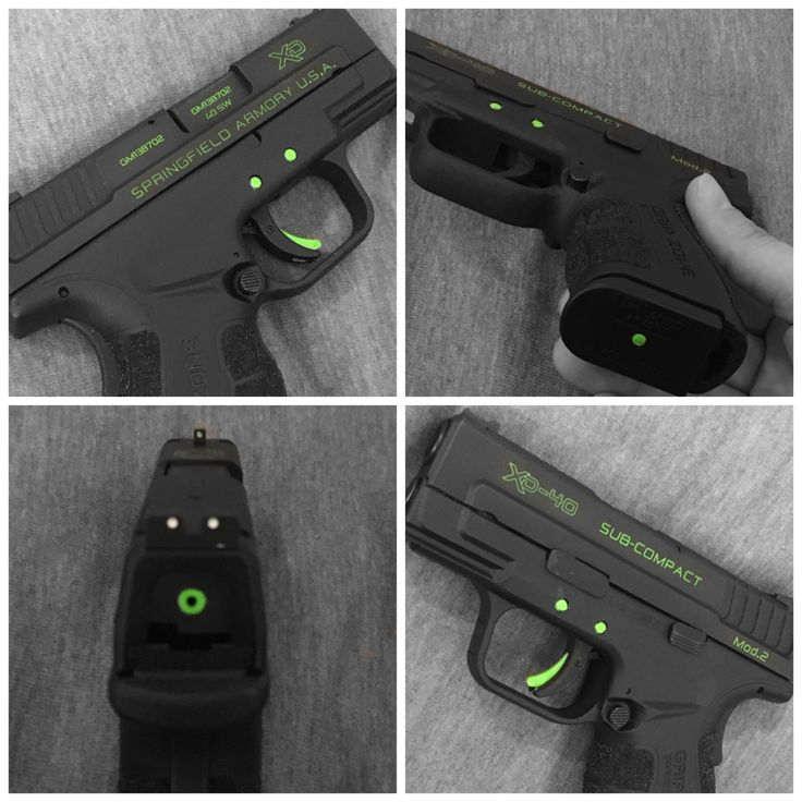 Springfield XD Mod2 .40 slightly customized. Turned out awesome!