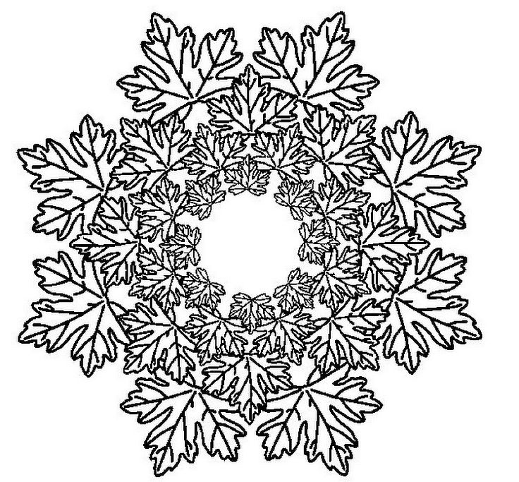 free printable mandala coloring pages mandalas leaves - Art Therapy Coloring Pages Mandala