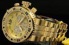 Invicta Men 52mm Pro Diver Combat Seal 18 K Gold Plated Chrno S.S Bracelet Watch