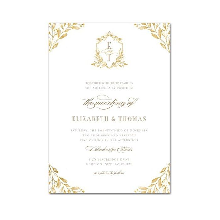 The Best Prince Harry And Meghan Wedding Invitation Card