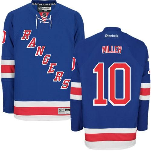 Authentic Mats Zuccarello Royal Blue Youth NHL Jersey: New York Rangers  Reebok Home