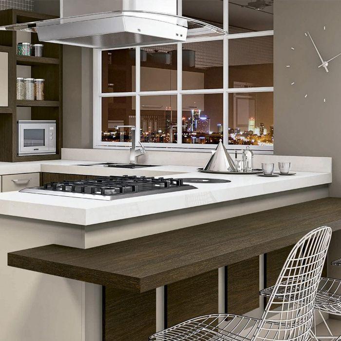 Cozinha Daico Rovere Padrões Rovere Camerino e Amarula #lacuna #moveis #planejado #naoprecisacustarcaro #ambiente #cozinha #daico