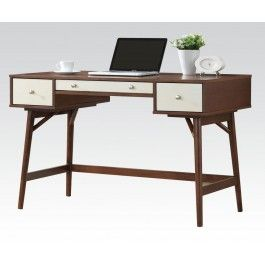 ACMEF92140-Walnut/cream Desk