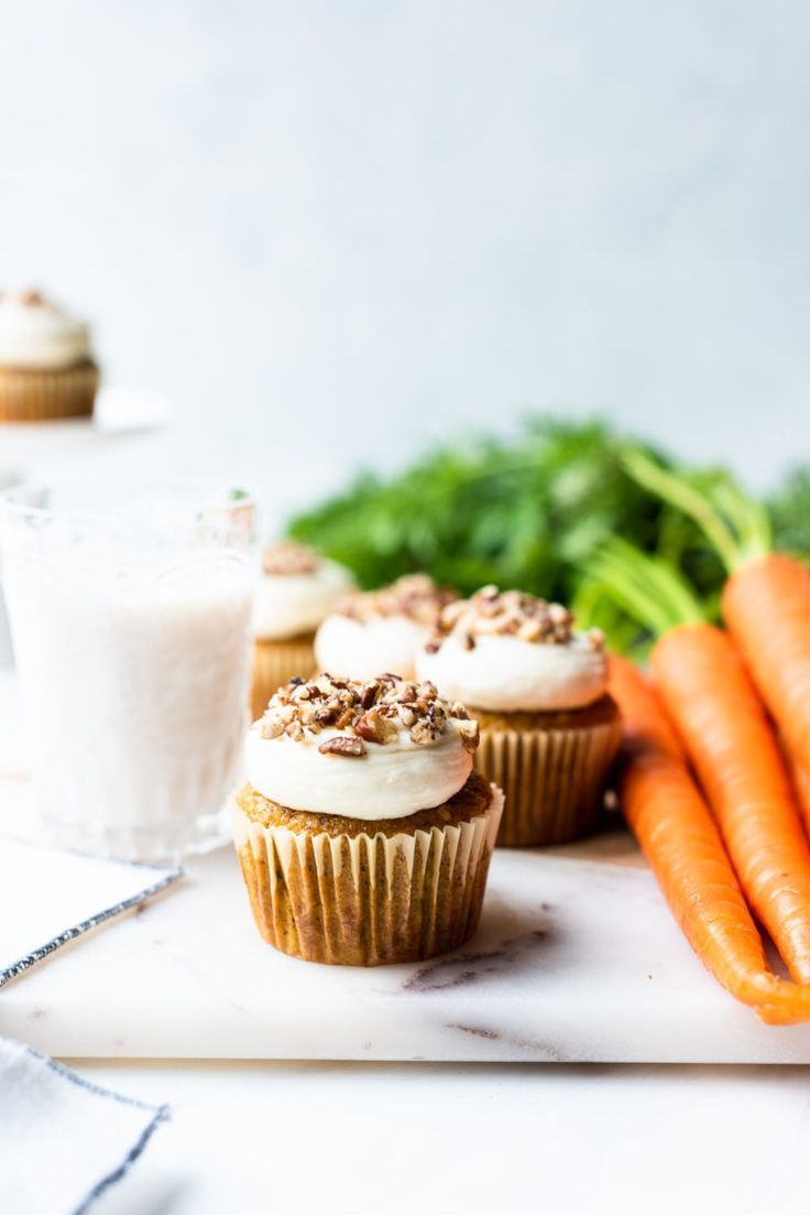 These Carrot Cake Cupcakes With Cream Cheese Frosting Are Perfectly Fluffy And Moist Just