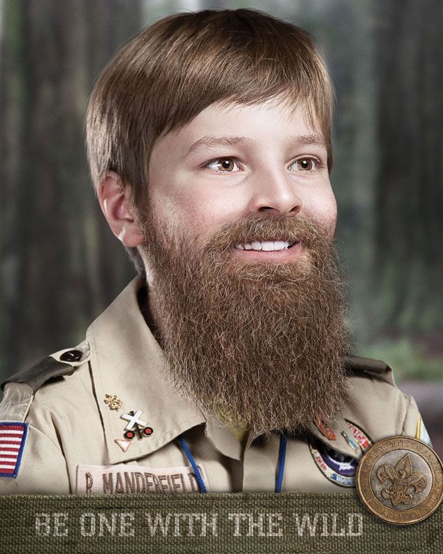 Creepy Bearded Boy Scout Ad