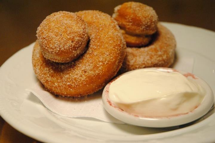 Nutmeg Doughnuts & sour cream