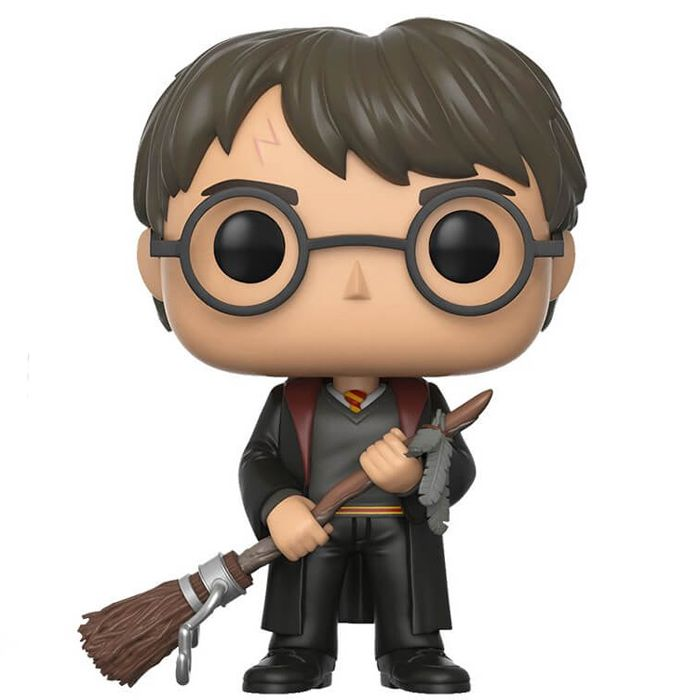 Harry Potter Figurine with firebolt (Harry Potter) | Funko Pop