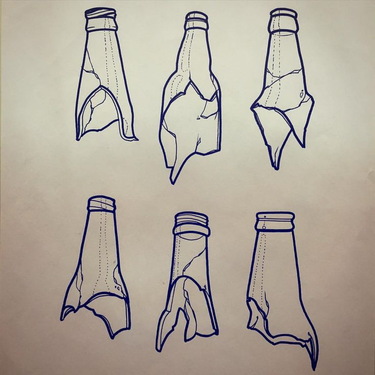 Someone let me tattoo a broken bottle on you!! #illustration #brokenbottle…