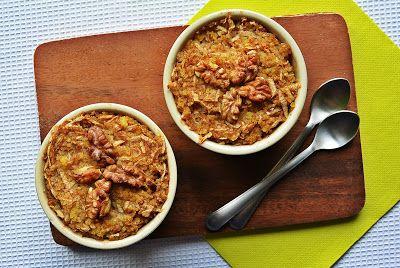 My Chcemy Jeść: Pieczona jaglanka szarlotkowa z orzechami włoskimi...
