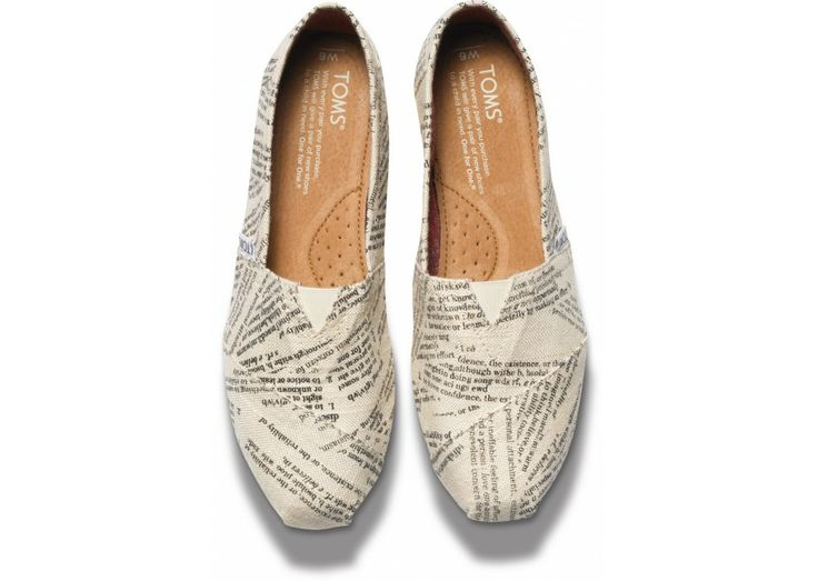 TOMS Dictionary Quotes Women's Shoes ...