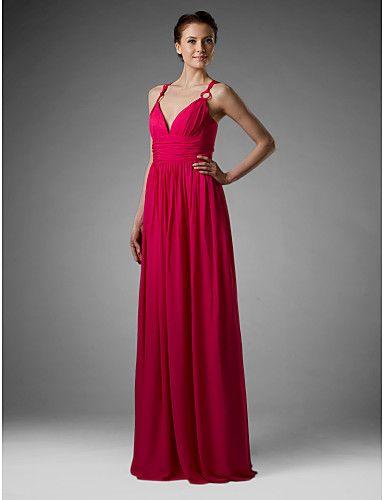 manta / Coloana spaghete curele podea-lungime sifon peste mading domnișoara de onoare / rochii de mireasa partid - USD $ 129.99
