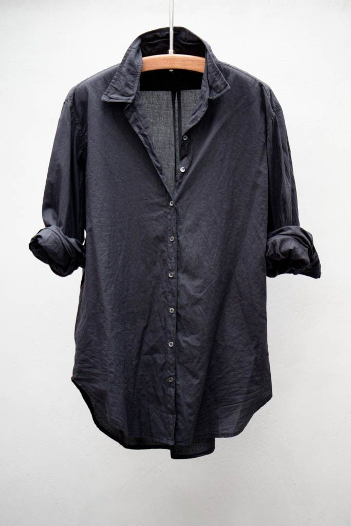 dark. Denim. Shirt - wear with tights and amazing boots for fall :)