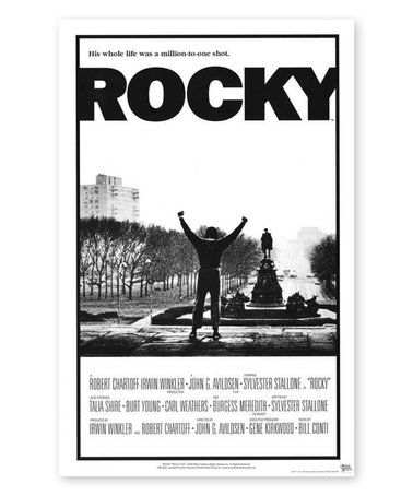 Look at this #zulilyfind! Rocky Film Poster #zulilyfinds