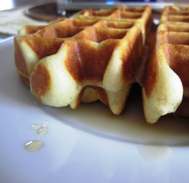 Light and Airy Waffle Batter Recipe, yum!  Ingredients you're sure to have in your pantry.