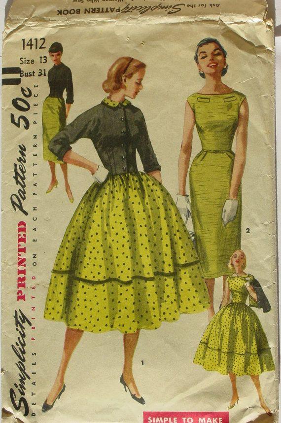 vintage Simplicity pattern.