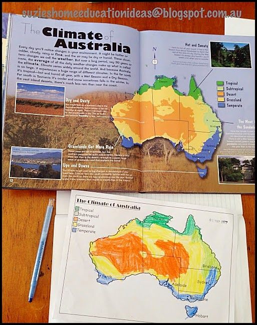 Suzie's Home Education Ideas: The Climate of Australia and Renewable Energy