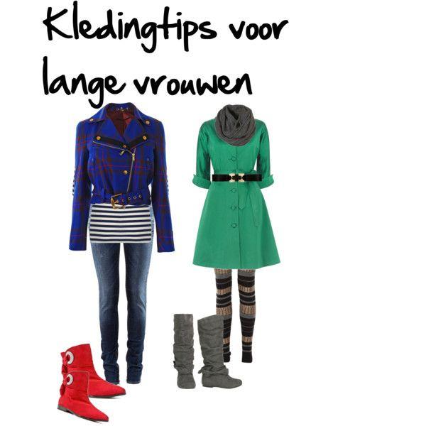 """Verticale strepen """"breken"""" je lengte zodat je minder lang oogt. Dragen van verschillende kleuren en verschillende kledingstukken."""