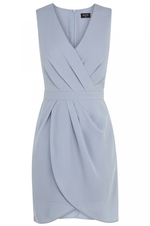 A gorgeous periwinkle dress | Oasis Caitlin Drape Crepe Shift Dress | Could be a bridesmaid dress or one you wear to the wedding as a guest.