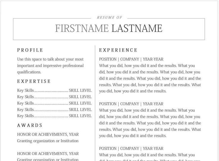 102 best Resume Templates images on Pinterest Interview, Gym and - font size for resume