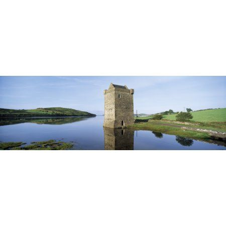 Rockfleet Castle On Clew Bay County Mayo Ireland Canvas Art - The Irish Image Collection Design Pics (37 x 12)