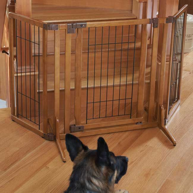 Wooden Baby Gate With Pet Door - WoodWorking Projects & Plans