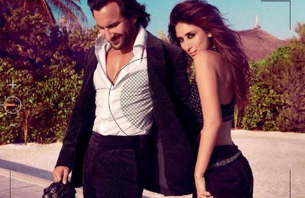 Saif Ali Khan amp Kareena Kapoor covershoot for Harpers Bazaar India Oct 2013
