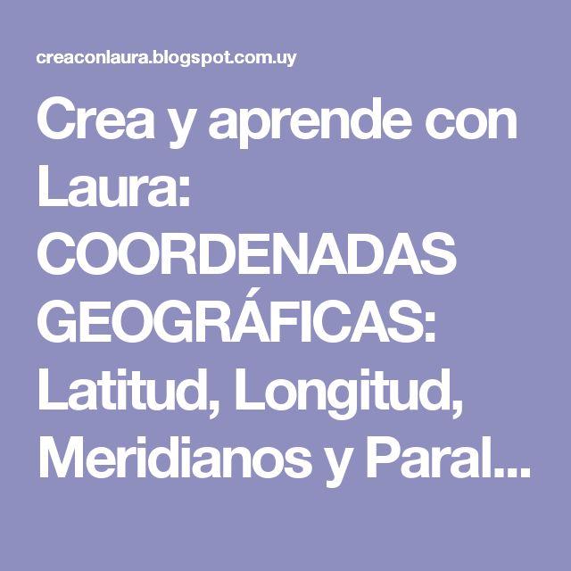 Crea y aprende con Laura: COORDENADAS GEOGRÁFICAS: Latitud, Longitud, Meridianos y Paralelos. Actividades interactivas