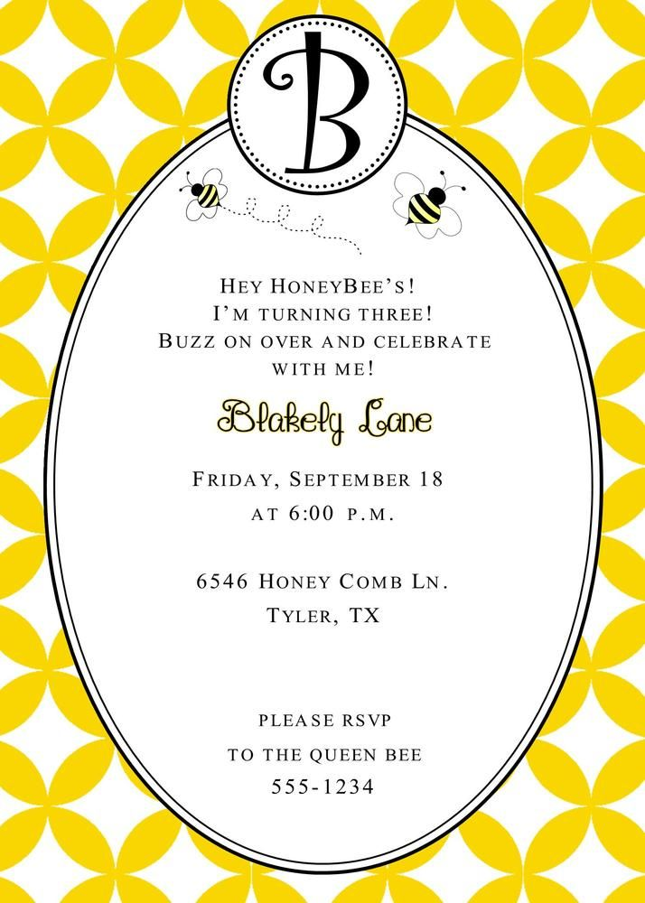 133 best bee 3rd birthday party images on pinterest bees blaires first birthday party image of bumble bee birthday invitation filmwisefo Images