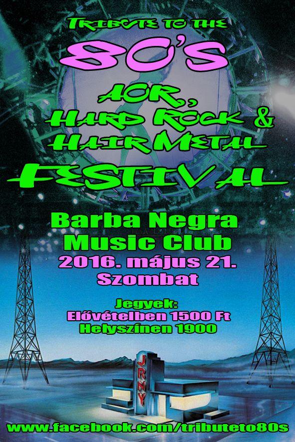 Tribute To The 80´s Hard Rock&Hair Metal Festival 2016 - Teljes fellépők listája! http://rockerek.hu/tribute_to_the_80s_hard_rockhair_metal_festival_2016_teljes_fellepok_listaja.html