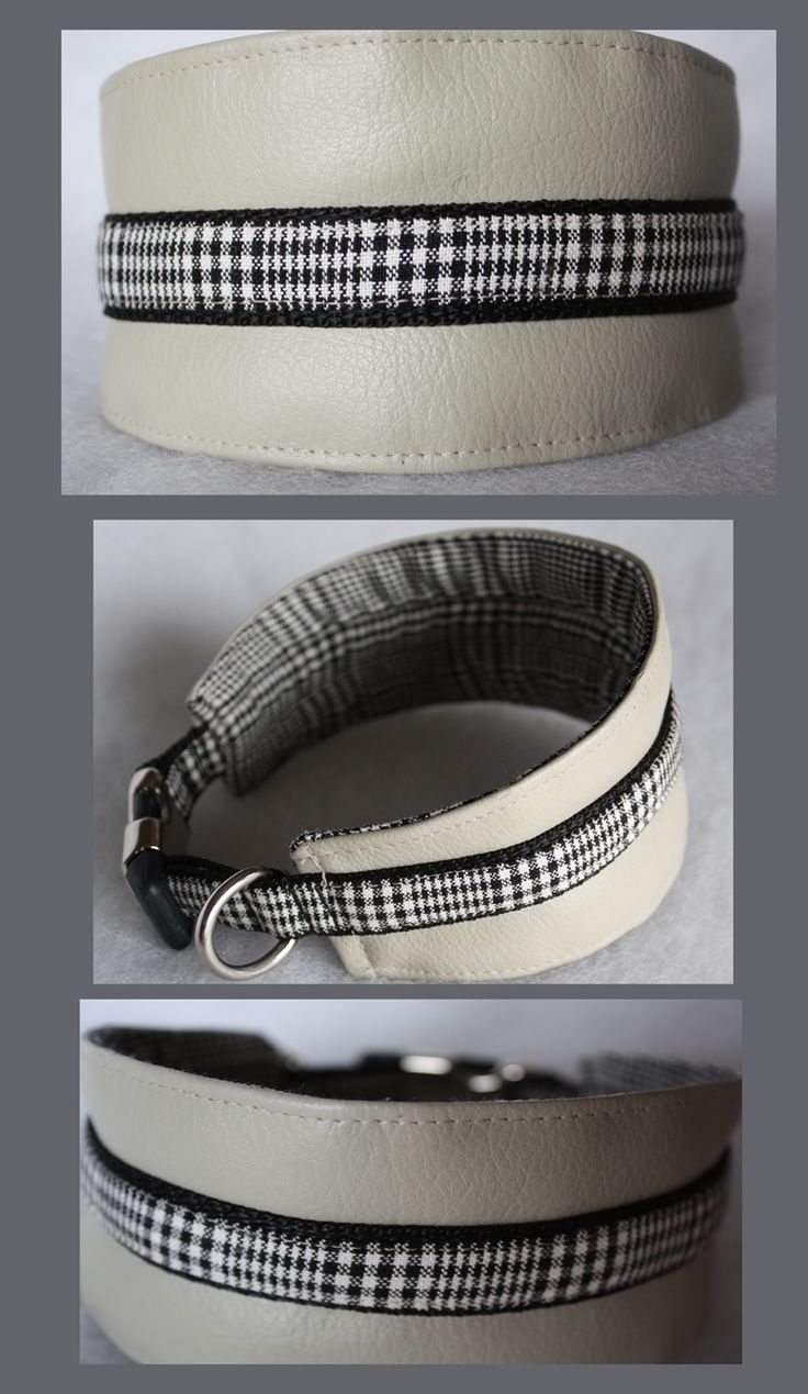 Greyhound collar with buckle closure and D ring for the name tag. Made to Measure for Sophie, a small galgo.  https://www.etsy.com/shop/amicidialia https://www.facebook.com/amicidialia http://www.amicidialia.com