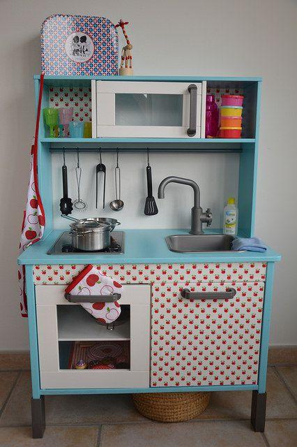 ikea hack duktig kitchen kinderen pinterest turquoise armoires and cuisine ikea. Black Bedroom Furniture Sets. Home Design Ideas