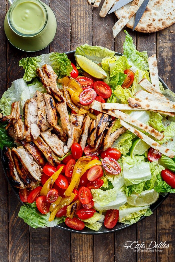 Tequila Lime Chicken Taco Salad | http://cafedelites.com
