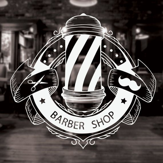 Barber Shop Sign barber shop decor barber shop by CustomVinylDNA