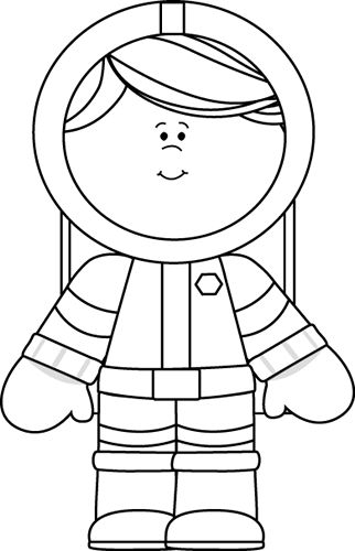 Black and White Girl Astronaut