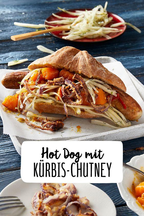 Hot Dog Mit Bratwurst Fenchel Und Kürbischutney Rezept