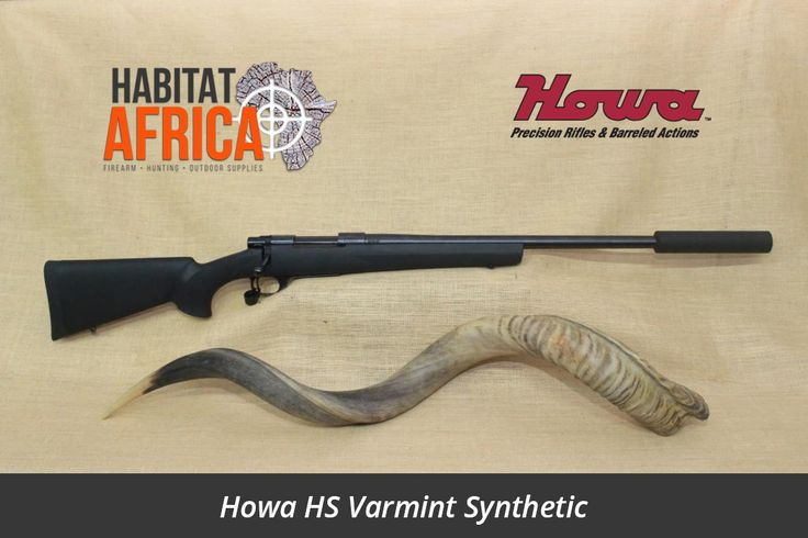 """For the 2016 shooting and hunting season, Habitat Africa introduced the Howa HS (Hunter Shooter) Synthetic Package. Staying true to the innovative spirit of Howa, we added components to a rifle model which is well balanced and fun to shoot. The 20"""" Varmint Barrel comes standard with a threaded and [...]"""