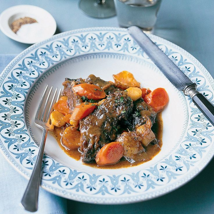 This recipe is inspired by ones that use flanken, a cut of beef from the chuck end of short ribs. In Jewish custom, the meat is boiled and served with horseradish. Our version uses braised boneless ribs and pairs them with earthy vegetables.
