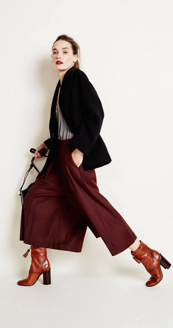 Month of Style / Day 3: the deep earth tones paired with dramatic proportions make this look so modern and chic