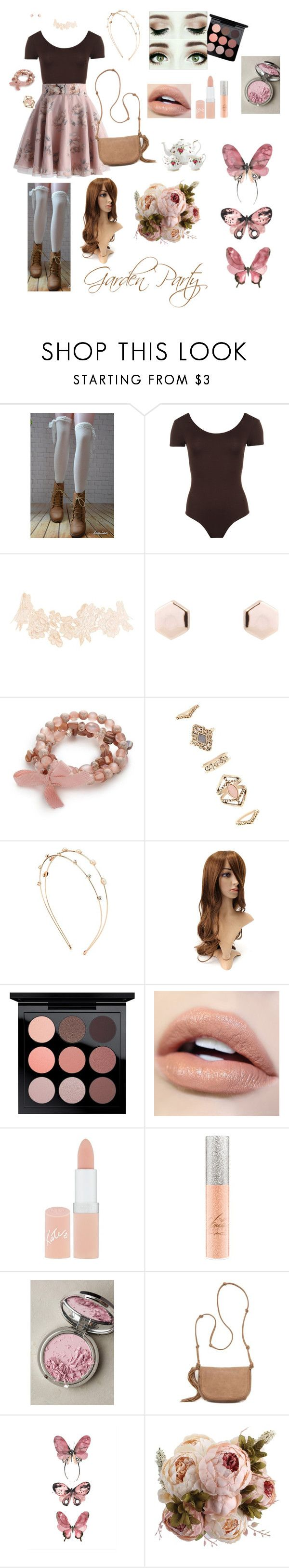 """""""Garden Party"""" by trin101915 ❤ liked on Polyvore featuring WearAll, Charlotte Russe, Kim Rogers, Forever 21, MAC Cosmetics, Rimmel, FACE Stockholm, Red Camel and Royal Albert"""