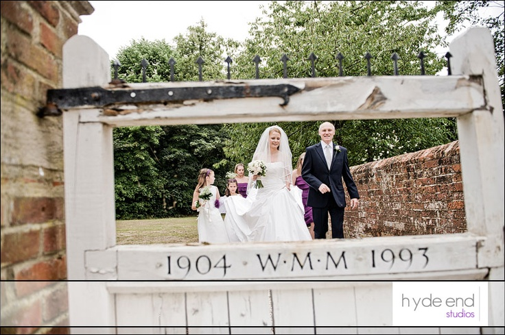 On the way to the Church at Wasing Park. #wasingpark #weddings