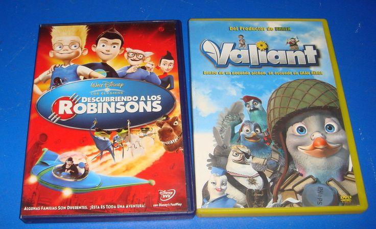 Pelicula en DVD 2 peliculas-DESCUBRIENDO A LOS ROBINSONS y VALIANT