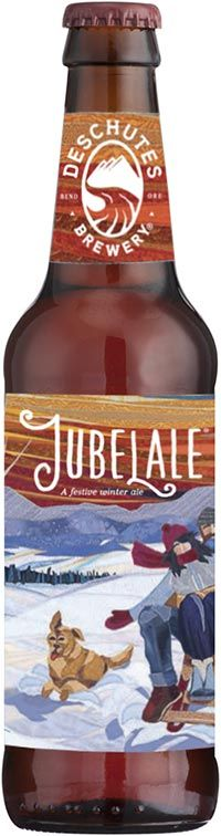 Jubelale Winter Ale from Deschutes Brewery: malty, with an almost sweet finish. Yum!