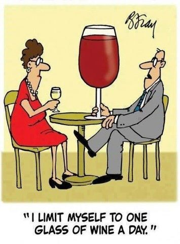 Just one glass of wine a day!