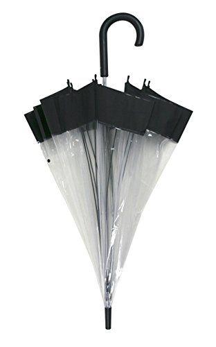 Paraguas transparente cúpula - http://comprarparaguas.com/baratos/de-hombre/paraguas-transparente-cupula/