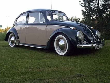 Two Tone VW Beetle | Image may have been reduced in size. Click image to view fullscreen.