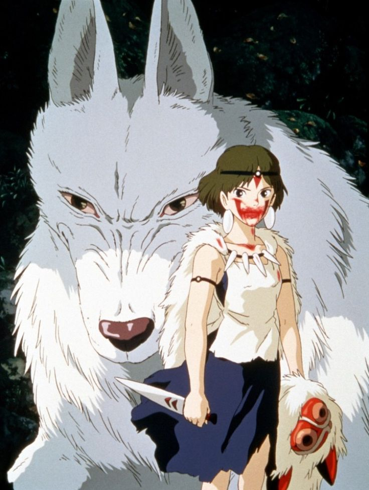 princess mononoke | Princesse Mononoké : le combat entre Nature et technique | Japanese ...